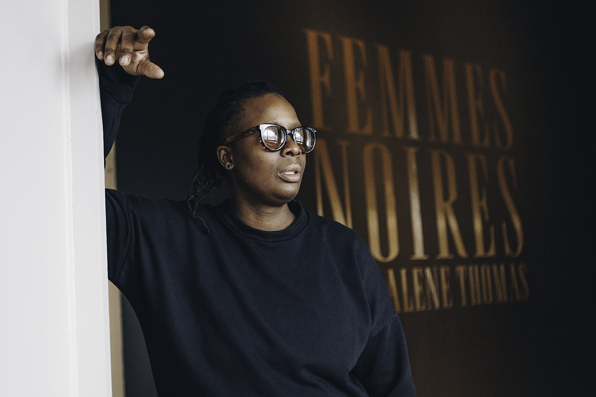 Mackalene Thomas, the artist behind Femmes Noires, an exhibit reimagining images of marginalized woman on now at the AGO until March 24.