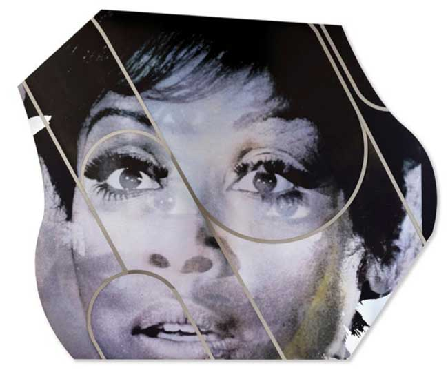 """A piece from Mickalene Thomas' """"Femmes Noires"""" exhibition at the AGO."""