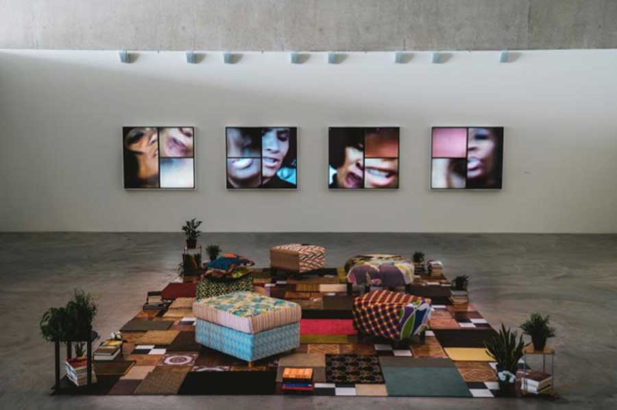 A shot of Mickalene Thomas' Femmes Noires exhibit is at the AGO until March 24.