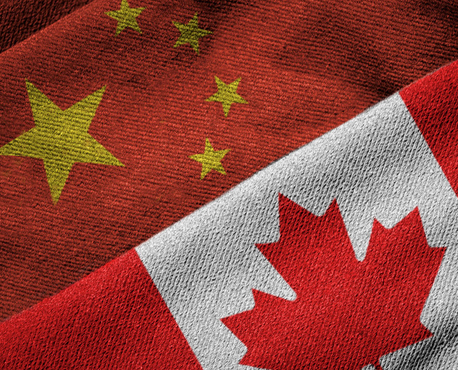 canada china flags