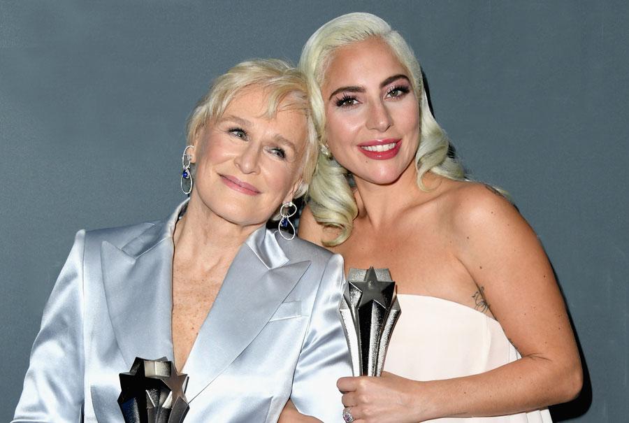 Glenn Close and Lady Gaga at the Critics' Choice Awards