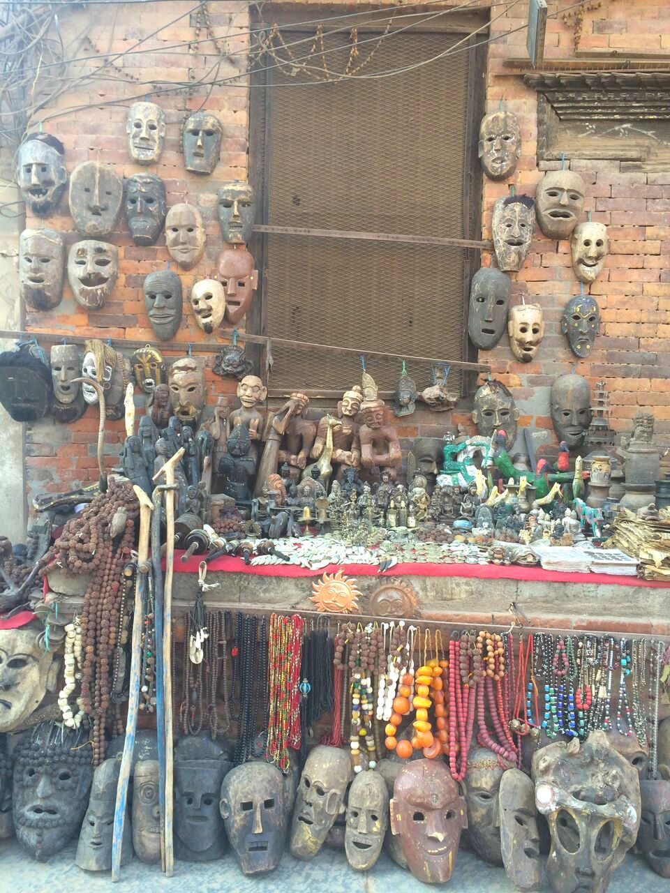 Masks for sale in Nepal