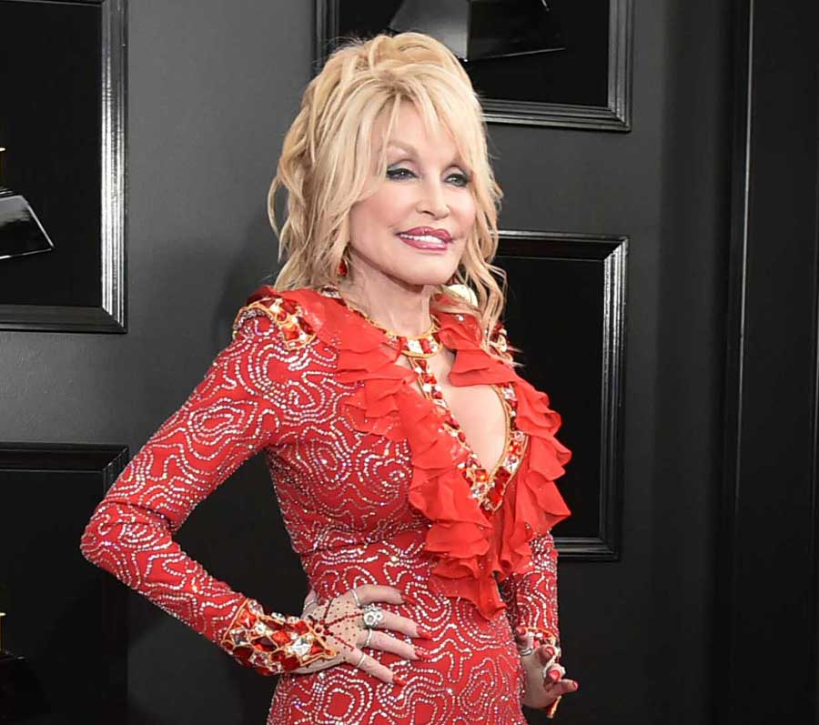 Red Dress Red Shoes Red Carpet Dolly Parton Among Most