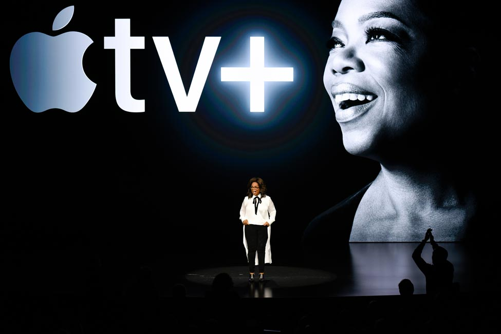 Oprah on stage: Photo by Michael Short/Getty Images