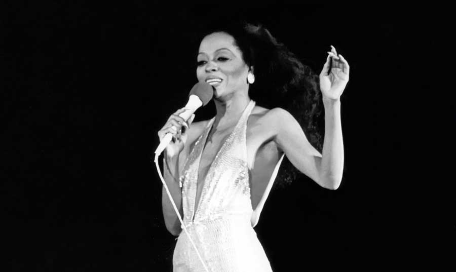 Diana Ross performing live at Central Park.