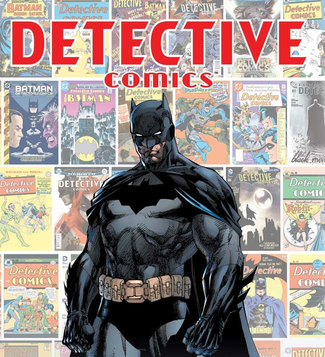 Batman on the cover of detective comics.
