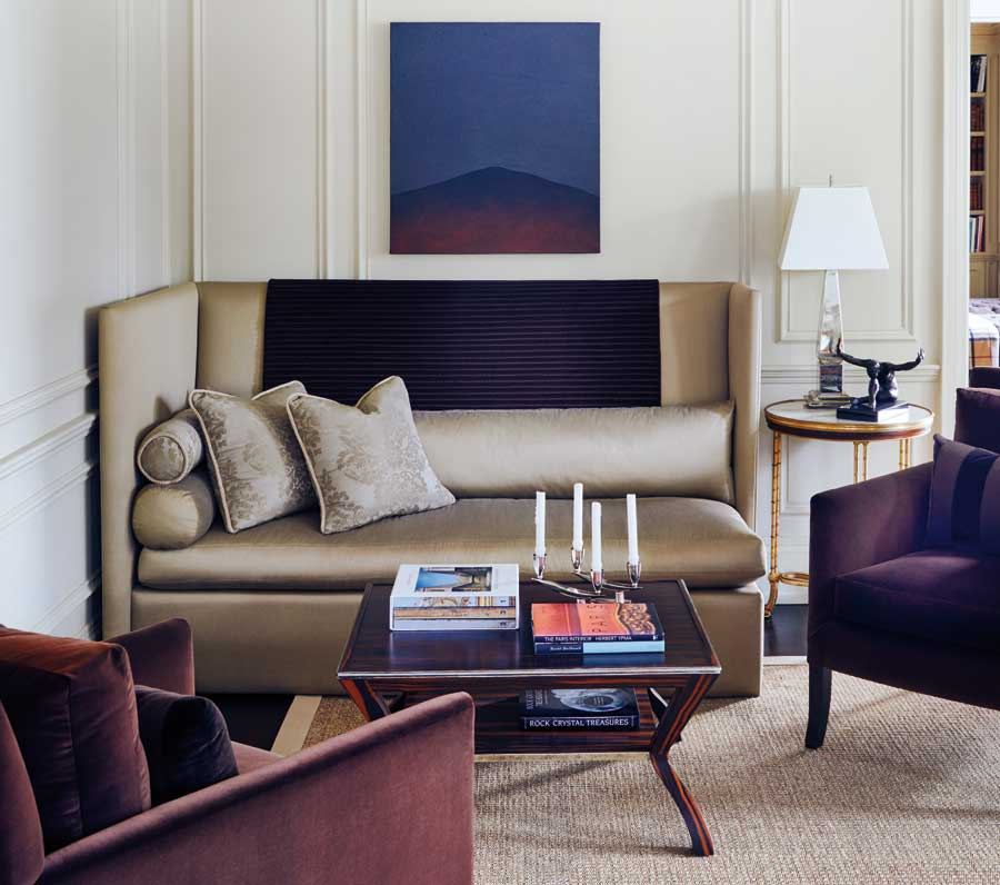 A living room featured on the cover of Brian Gluckstein: The Art of Home.