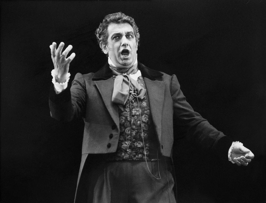 Placido Domingo performing in Germany in July 1987.