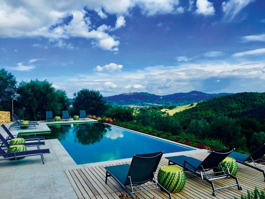 The pool at Villa Reniella, a resort that Debbie Travis designed.