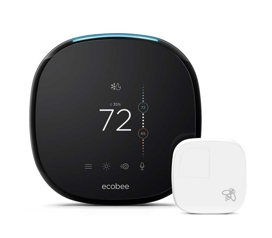 A smart Wi-Fi thermostat and sensor.