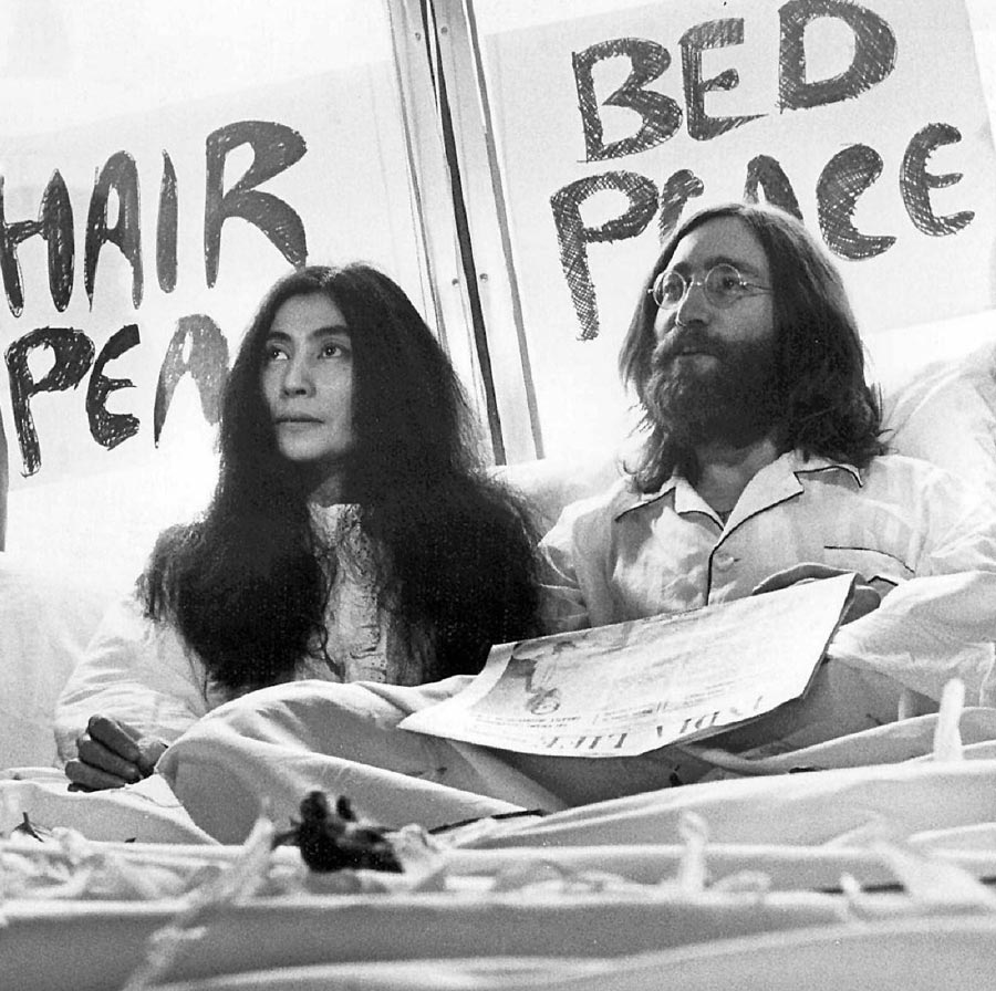 Give Peace A Chance John Lennon And Yoko Ono S Iconic Montreal Bed In Turns 51 Everything Zoomer