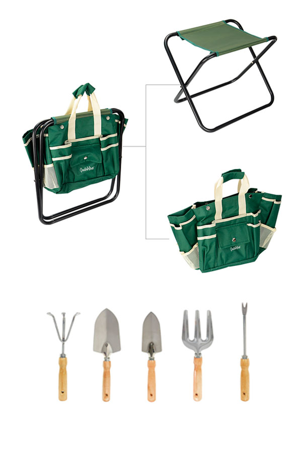 Garden Tool Set with Chair