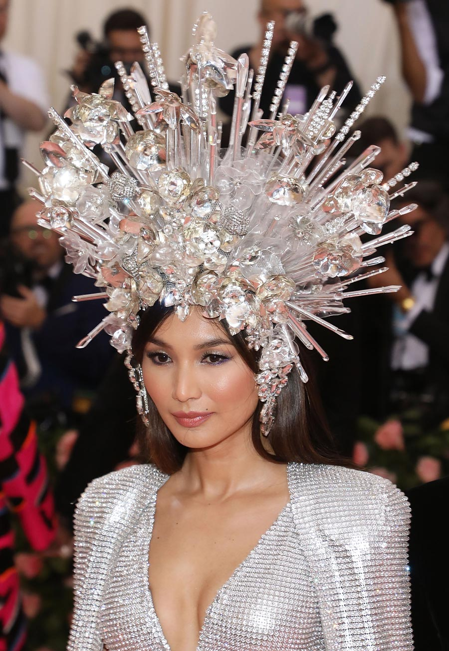 "Gemma Chan attends the 2019 Met Gala celebrating ""Camp: Notes on Fashion"" at The Metropolitan Museum of Art on May 6, 2019 in New York City. (Photo by Taylor Hill/FilmMagic)"