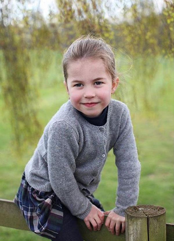 Princess Charlotte on her 4th birthday.