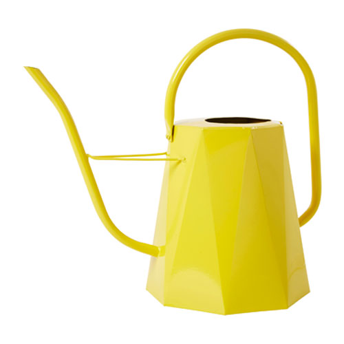 Bright yellow watering can