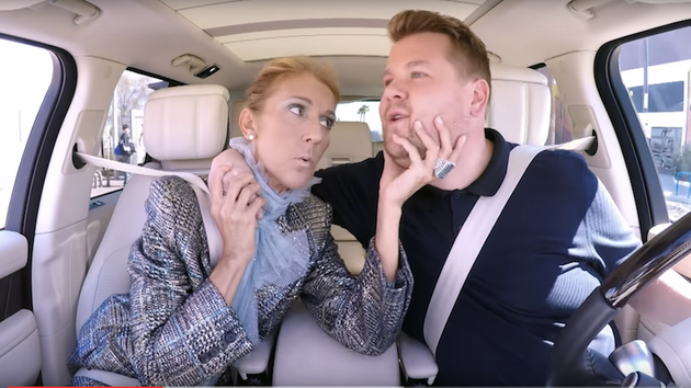 Celine Dion appears on Carpool Karaoke.