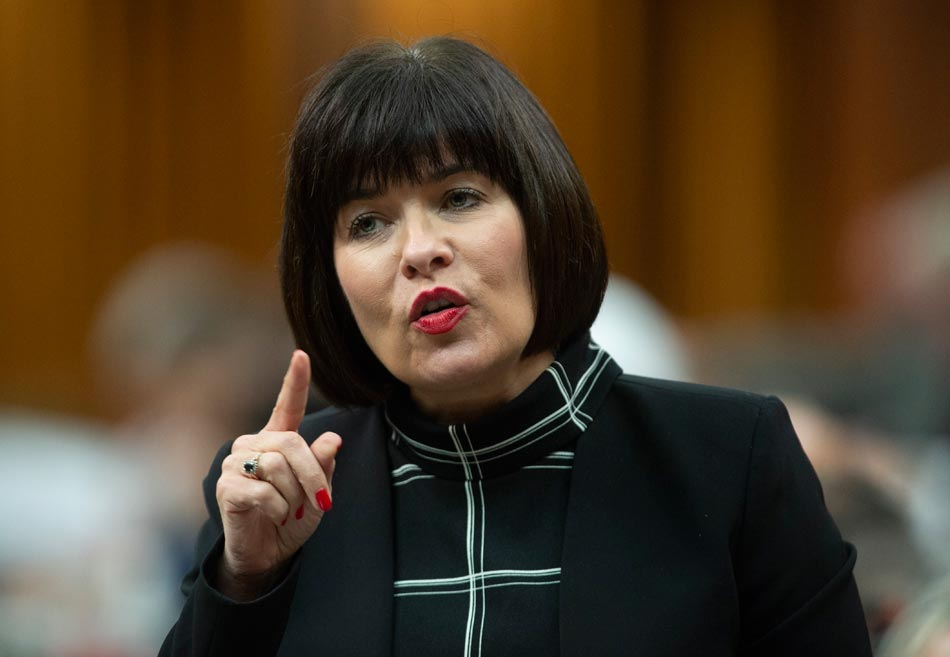 Minister of Health Ginette Petitpas Taylor responds to a question during Question Period in the House of Commons Monday June 17, 2019 in Ottawa. THE CANADIAN PRESS/Adrian Wyld