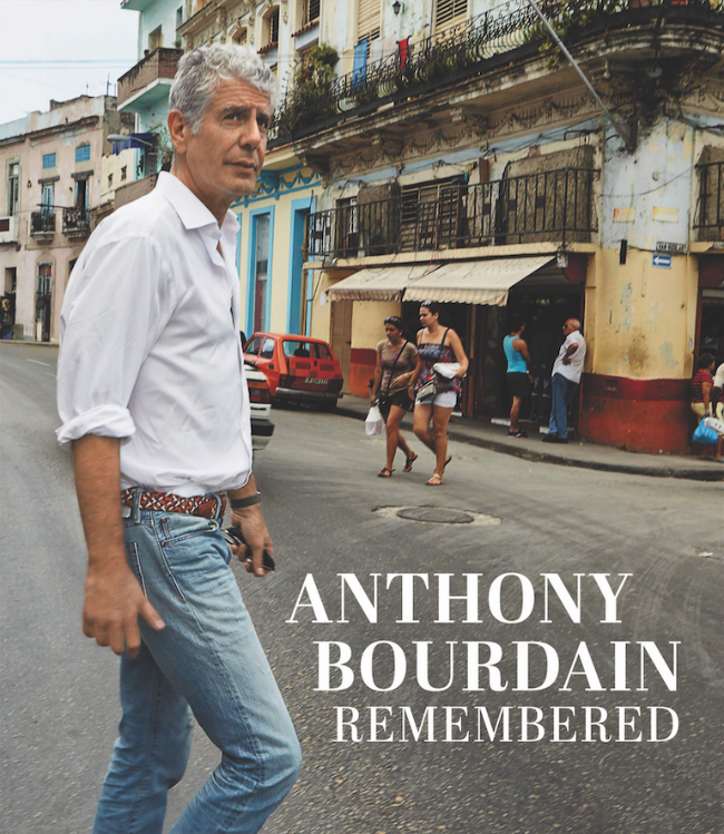 """The cover of CNN's book """"Anthony Bourdain Remembered"""" about the famous chef and travel show host."""