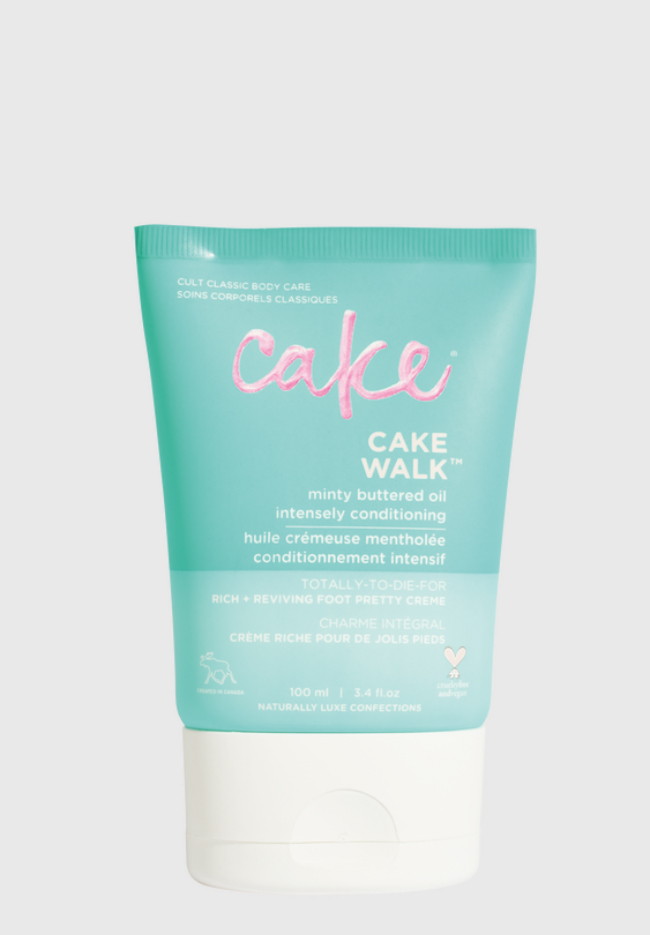 A picture of a bottle of Cake Cakewalk Foot Pretty Cream.