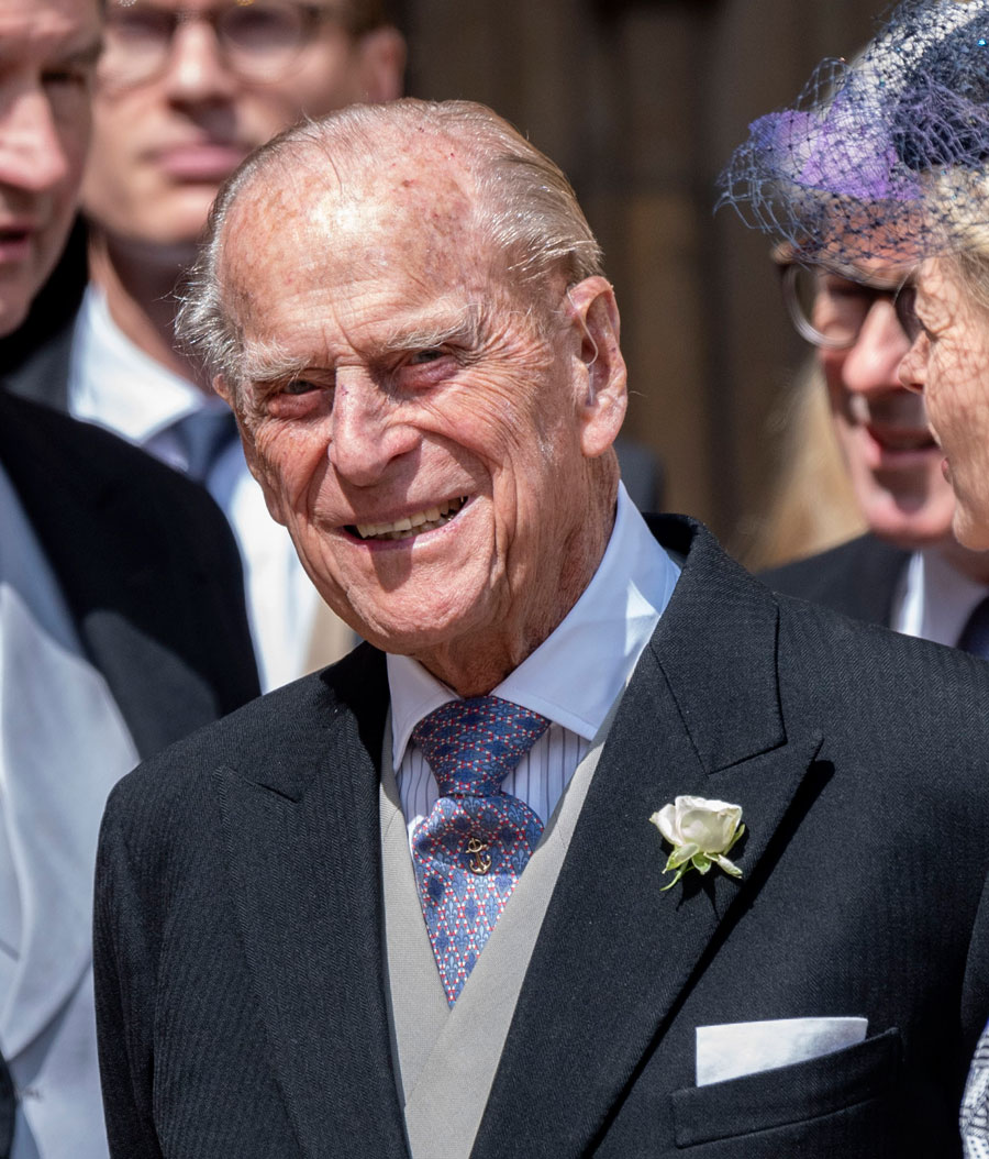 Prince Philip, Duke of Edinburgh attends the wedding of Lady Gabriella Windsor and Mr Thomas Kingston at St George's Chapel on May 18, 2019 in Windsor, England. (Photo by Mark Cuthbert/UK Press via Getty Images)