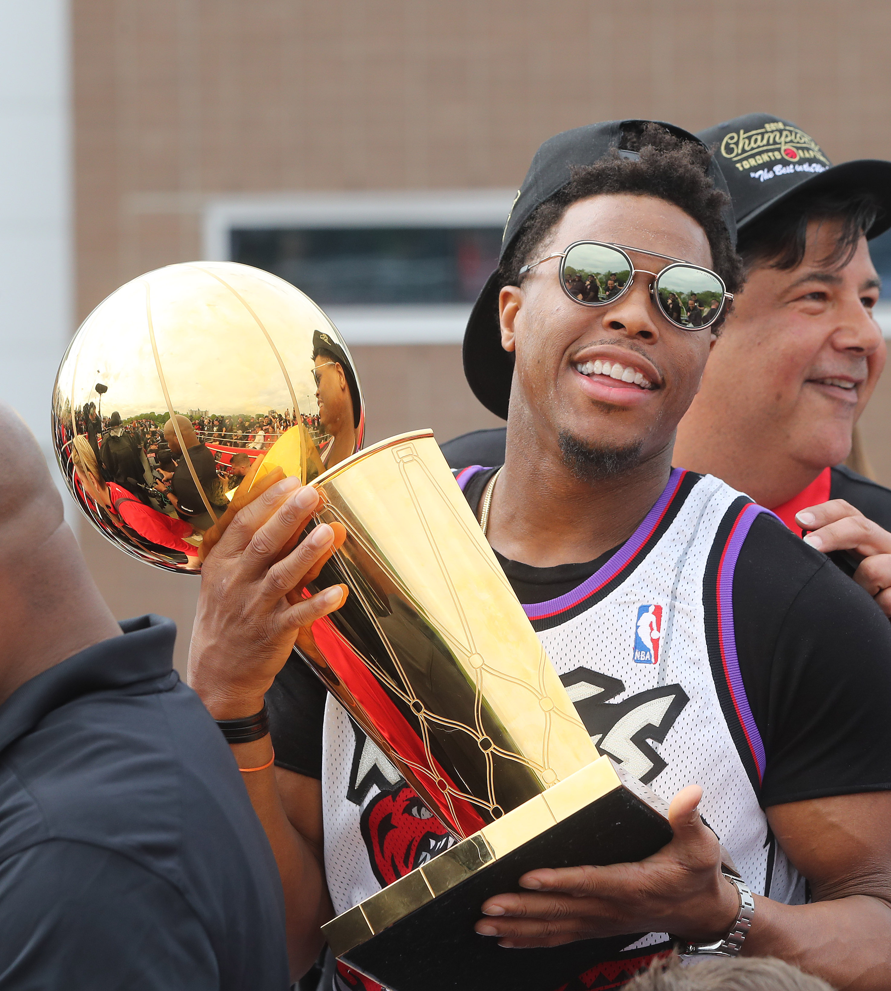 TORONTO, ON- JUNE 17 - Toronto Raptors guard Kyle Lowry (7) as the Toronto Raptors hold their victory parade after beating the Golden State Warriors in the NBA Finals in Toronto. June 17, 2019. (Steve Russell/Toronto Star via Getty Images)