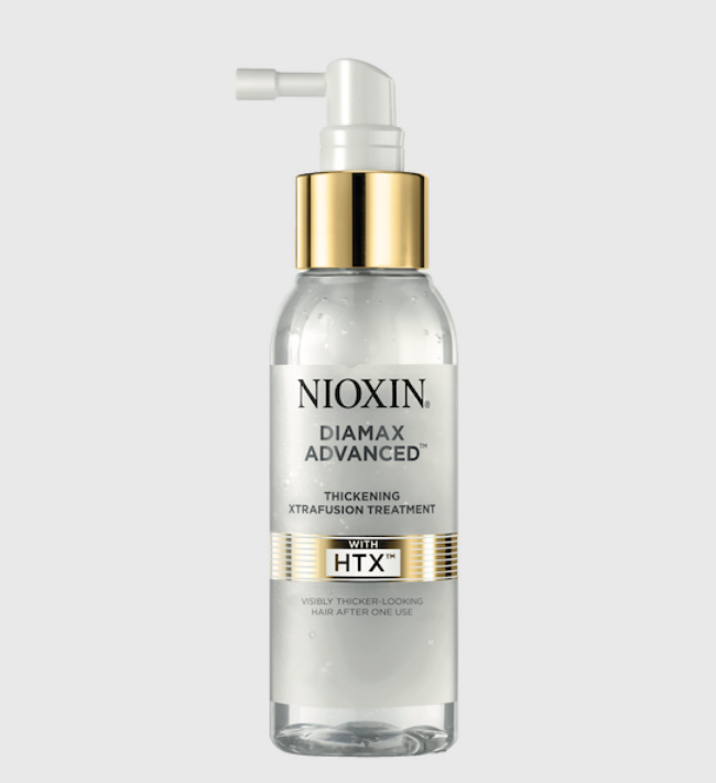 A picture of a bottle of Nioxin Diamax Advanced revolutionary HTX.