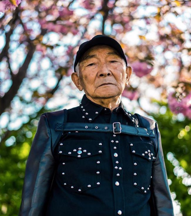 Photo of the 84-Year-Old Japanese Grandfather, who became an Instagram star