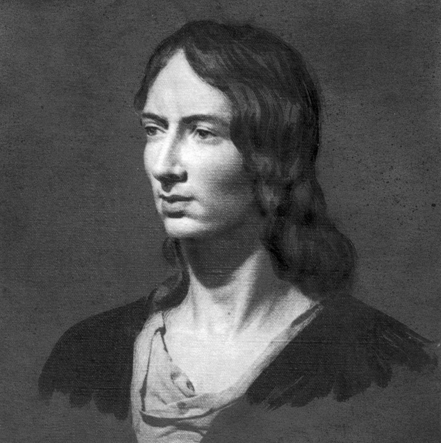 An oil painting of Emily Bronte (1818 - 1848), authoress of the novel 'Wuthering Heights,' published in 1847. (Photo by Hulton Archive/Getty Images)