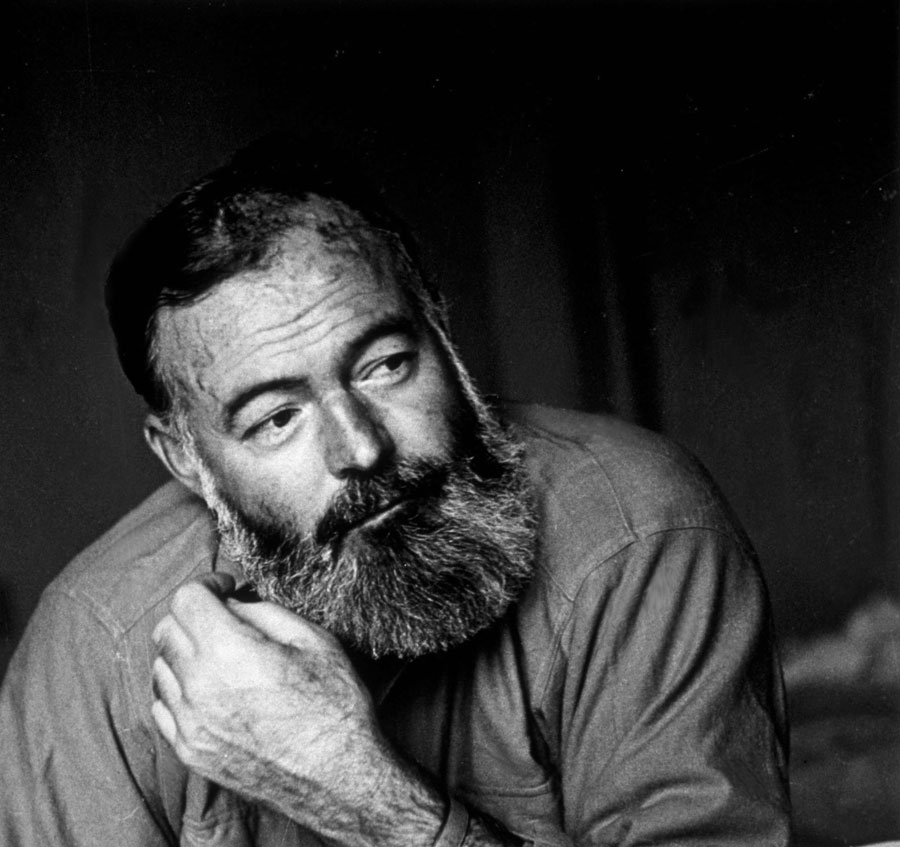 American writer and war correspondent Ernest Hemingway was born 120 years ago on July 21, 1899. ( Photo: July 1944 by Kurt Hutton/Picture Post/Getty Images)