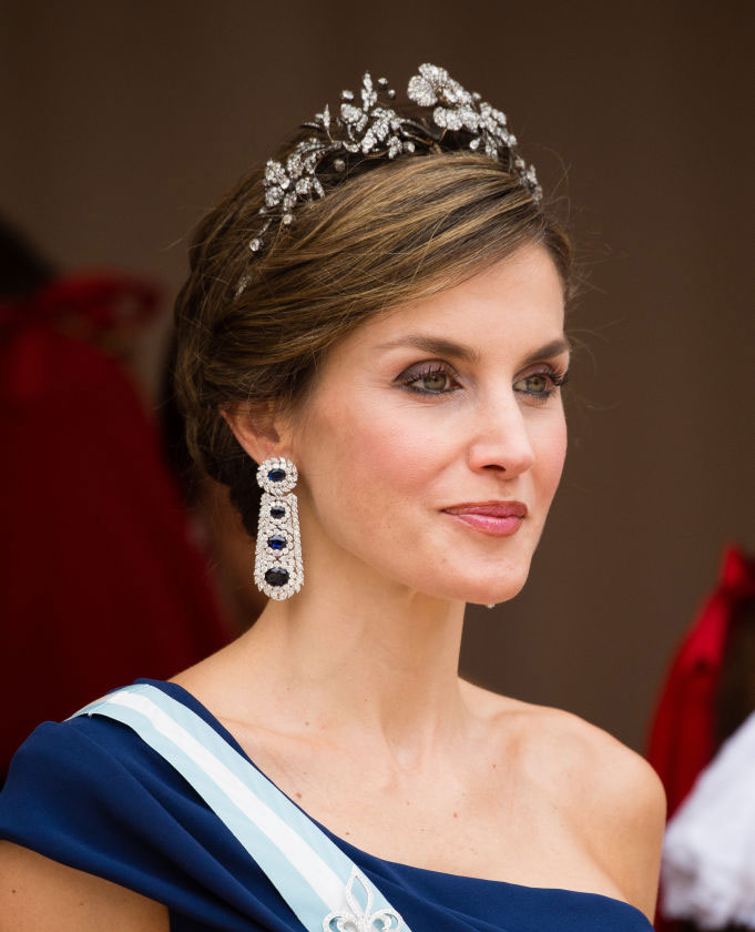 Queen Letizia of Spain attends the Lord Mayor's Banquet at the Guildhall during a State visit by the King and Queen of Spain on July 13, 2017 in London, England. (Photo by Jeff Spicer/Getty Images)