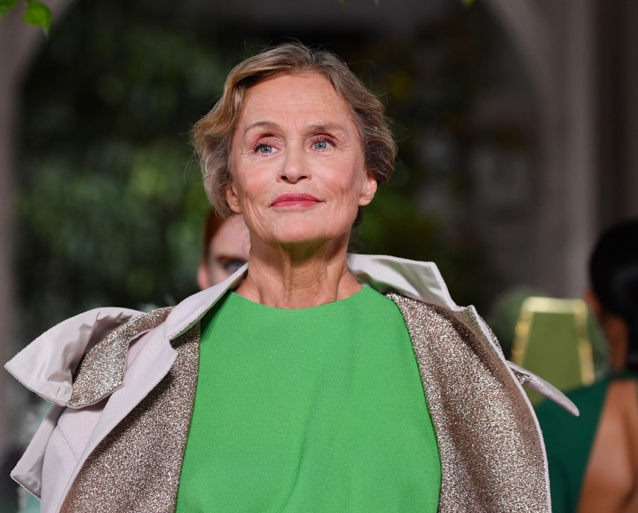 Lauren Hutton walks the runway during the Valentino Fall/Winter 2019 2020 show as part of Paris Fashion Week on July 03, 2019 in Paris, France. (Photo by Pascal Le Segretain/Getty Images)