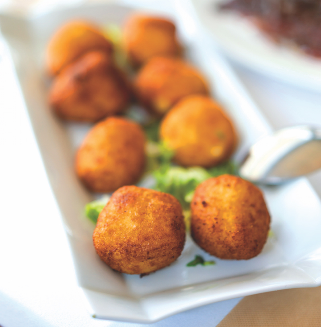 A photo of prepared Ham Croquettes.