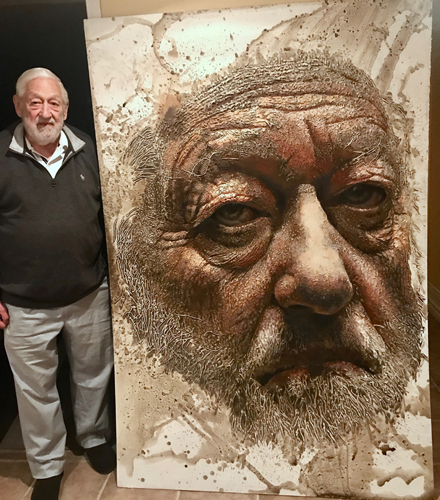 Portrait of 85-Year-Old Father by Ottawa Artist Michael Goodson