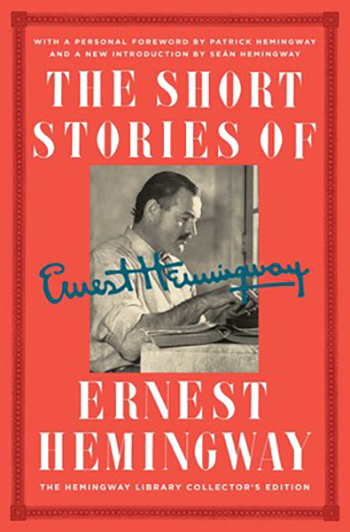 An image of the cover of The Short Stories of Ernest Hemingway.