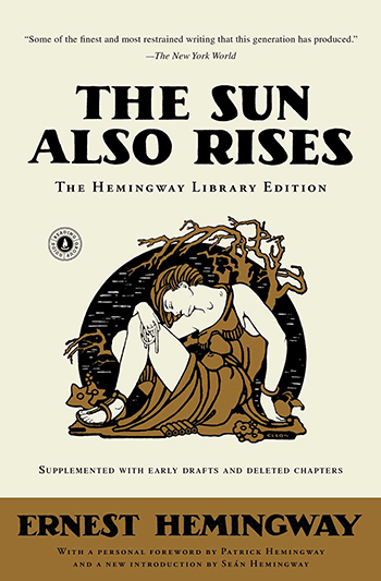 An image of the cover of the book The Sun Also Rises (1926) by Ernest Hemingway