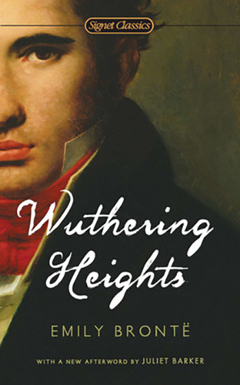"The cover of the book ""Wuthering Heights"" by Emily Bronte."
