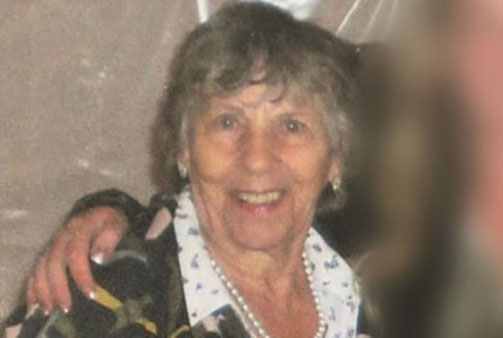 A photo of Mary Byman, 84, who when missing after blueberry picking with a friend.