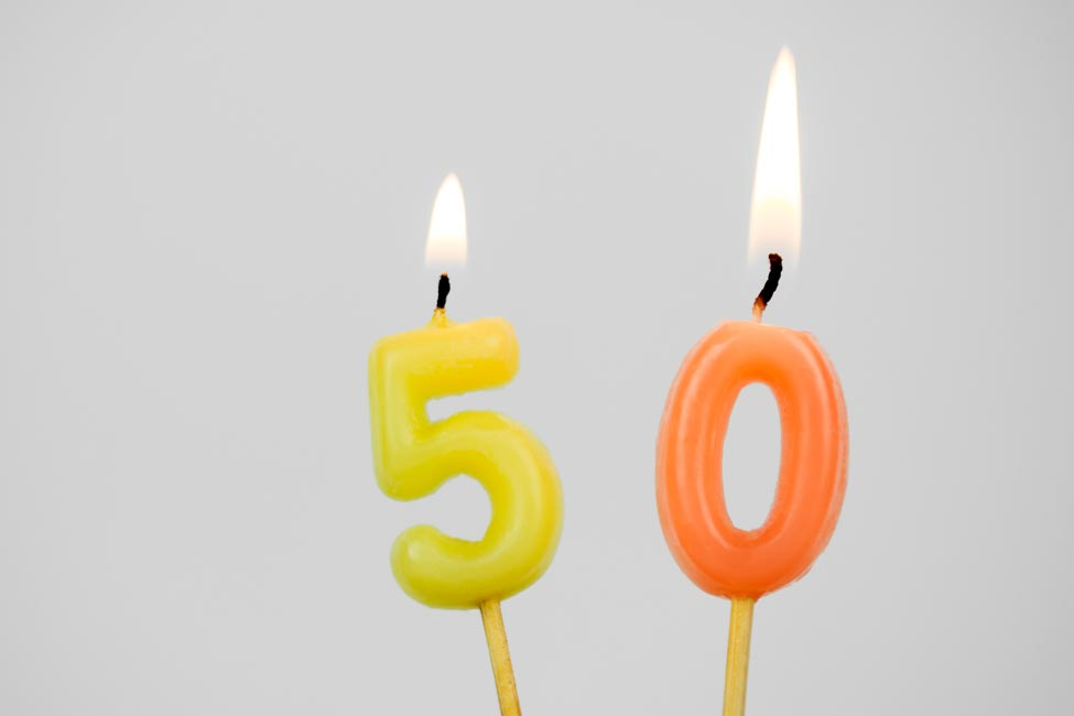 Birthday candles for 50th birthday