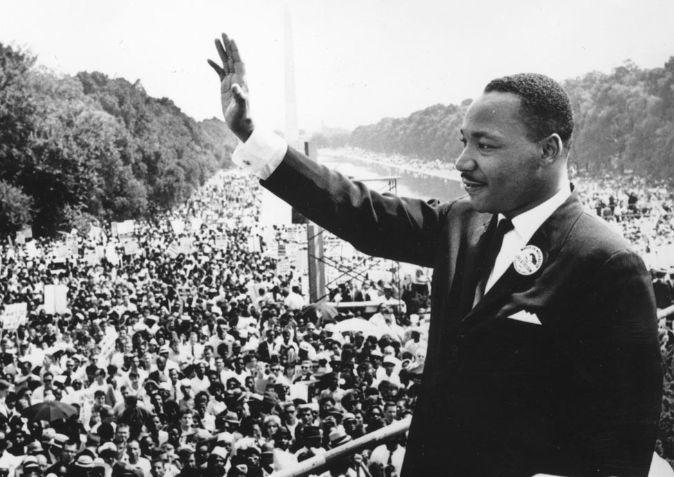 """Martin Luther King Jr giving his """"I Had a Dream"""" Speech"""