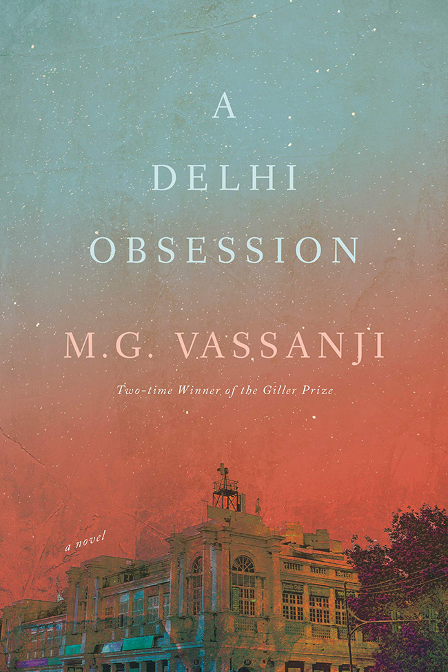 "The cover of the book ""A Delhi Obsession"" by M.G. Vassanji."