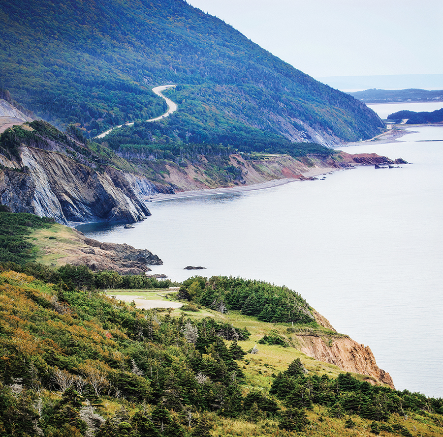 A photo of the Cabot Trail.