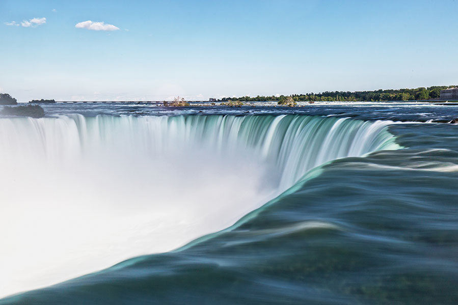A photo of Horseshoe Falls at the Niagara Falls in Canada.