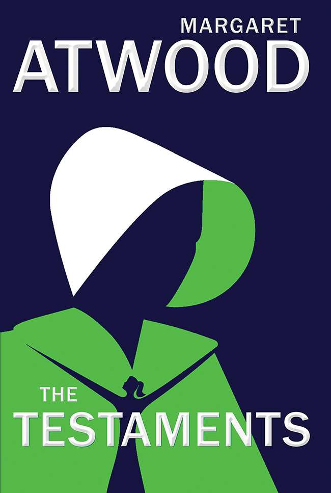 "The cover of the book ""The Testaments"" by Margaret Atwood."