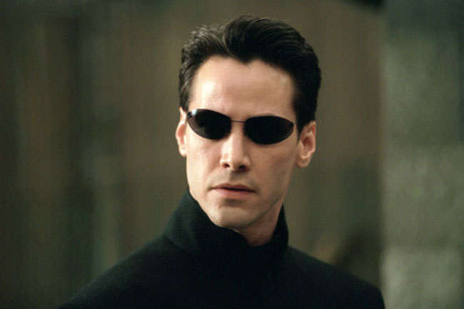 Keanu Reeves as Neo from the Matrix.
