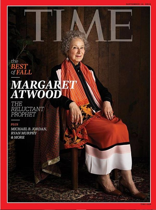 Margaret Atwood on the cover of Time magazine