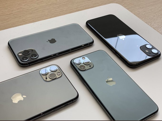 New iPhone 11 line of phones.