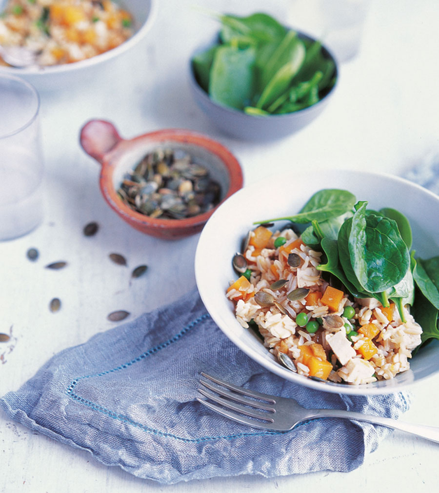 Winter Squash, Tofu and Tamari Rice from Eat Right for Your Body Type by Anjum Anand