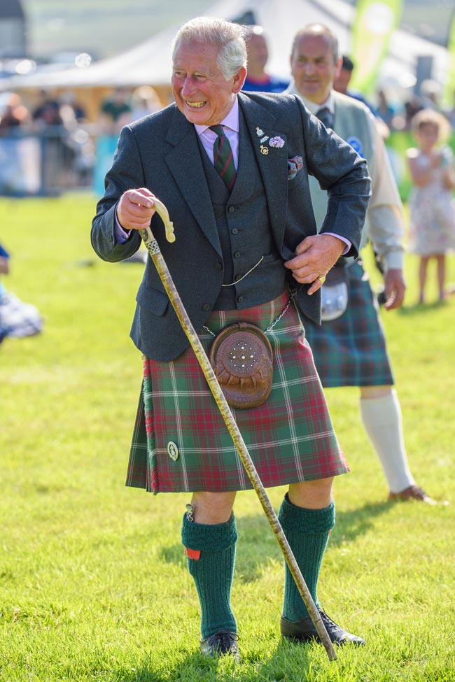 Photo of Prince Charles wearing a kilt