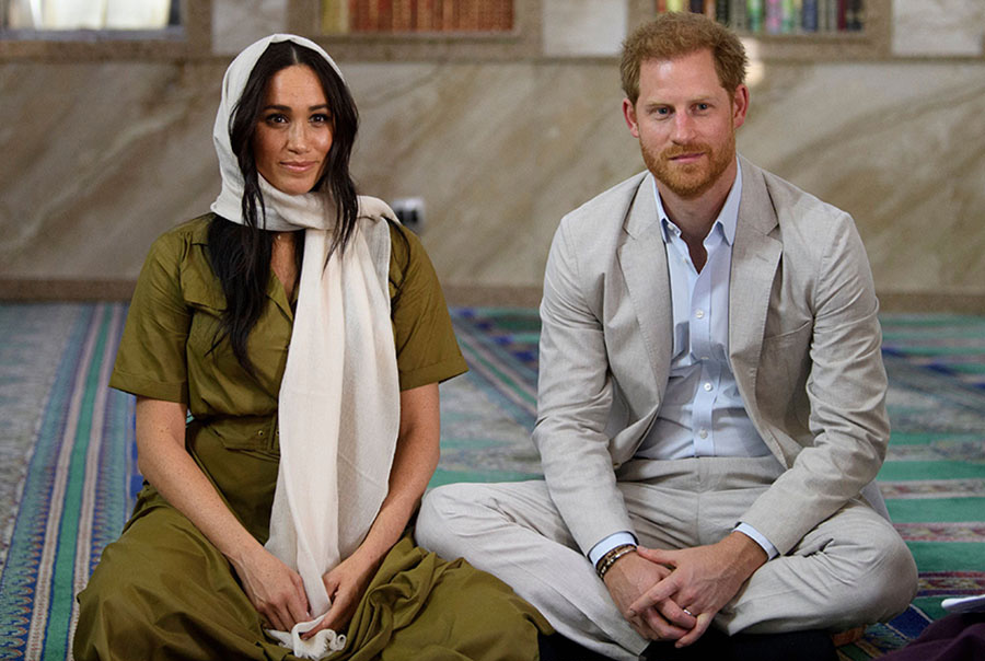 Meghan Markle and Prince Harry have tea with Archbishop Desmond Tutu
