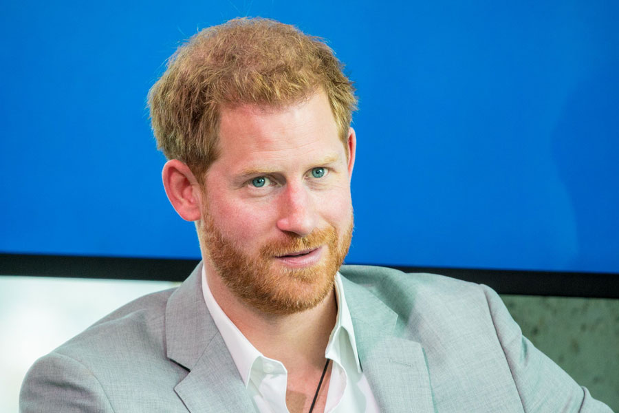 Prince Harry attends an event to announce a new partnership between Booking.com, SkyScanner, CTrip, TripAdvisor and Visa, at the ADAM Tower in Amsterdam.